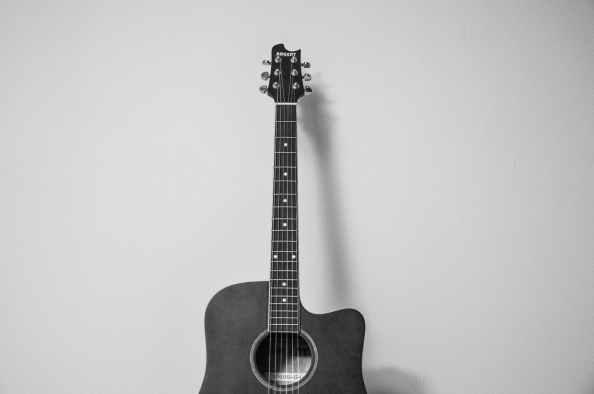 guitar music black and white