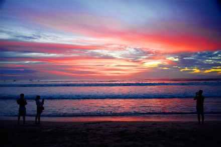 backlit bali beach blue